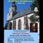 """Benefizkonzert – Manuel Schmid """"Deine Liebe und mein Lied"""""""